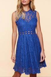 Available Sleeveless Lace Dress - Front cropped