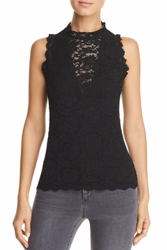 Red Haute Sleeveless Lace Top - Product List Image