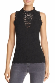 Red Haute Sleeveless Lace Top - Product Mini Image