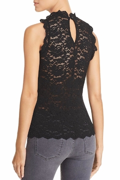 Red Haute Sleeveless Lace Top - Alternate List Image