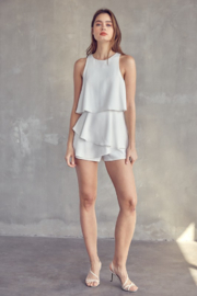 Idem Ditto  Sleeveless Layered Romper - Other