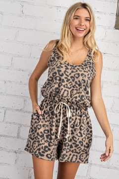 143 Story Sleeveless Leopard Romper - Product List Image