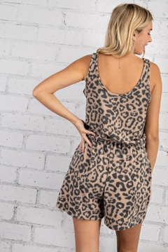 143 Story Sleeveless Leopard Romper - Alternate List Image