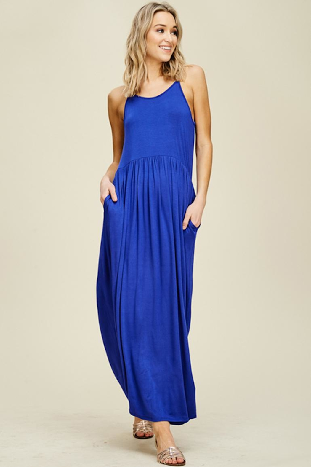annabelle Sleeveless Maxi Dress - Front Cropped Image