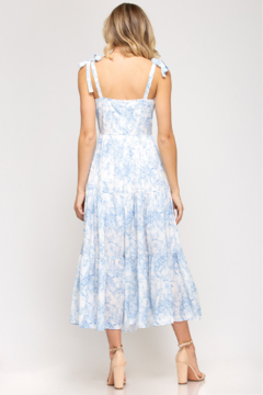 She and Sky SLEEVELESS MIDI DRESS - Alternate List Image
