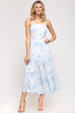 She and Sky SLEEVELESS MIDI DRESS - Product List Image