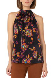 Liverpool  Sleeveless Mock Blouse with Tie - Product Mini Image