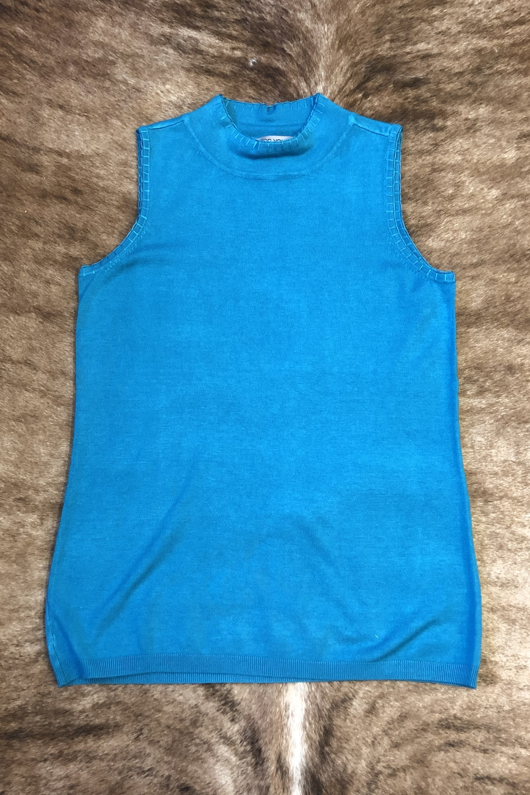 Sharon Young Sleeveless Mock Sweater - Front Cropped Image