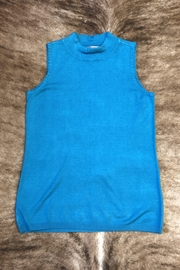 Sharon Young Sleeveless Mock Sweater - Front cropped