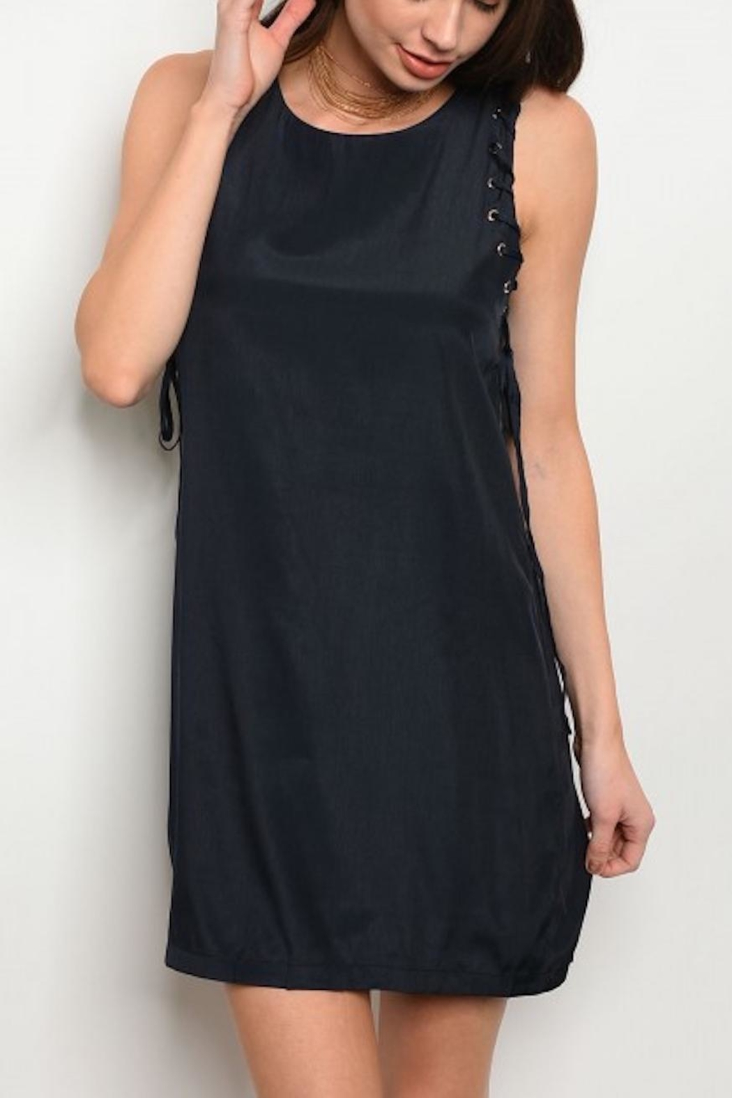 Grifflin Paris Sleeveless Navy Dress - Main Image