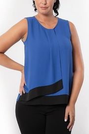 Bali Corp. Sleeveless Overlay Blouse - Product Mini Image