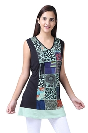 Parsley & Sage Sleeveless Patchwork Tunic - Product Mini Image