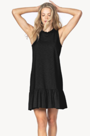 Lilla P Sleeveless Peplum Dress Black - Product Mini Image