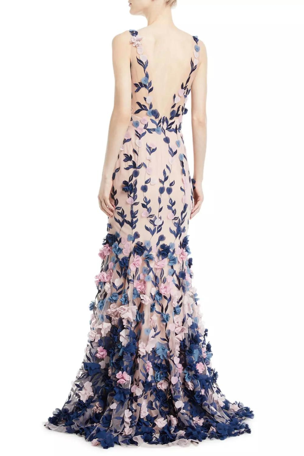 Marchesa Sleeveless Petal Gown - Front Full Image