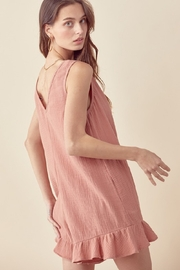 Lush  Sleeveless Pocketed Romper - Side cropped
