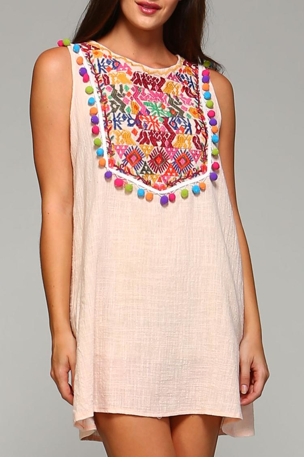 Velzera Sleeveless Pom-Pom Tunic/dress - Front Cropped Image