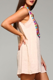 Velzera Sleeveless Pom-Pom Tunic/dress - Side cropped