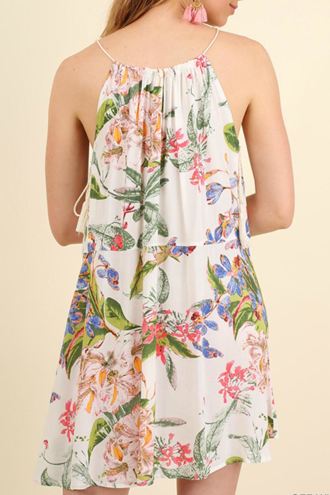 Umgee USA Sleeveless Print Dress - Side Cropped Image