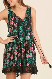 Umgee USA Sleeveless Print Dress - Product Mini Image