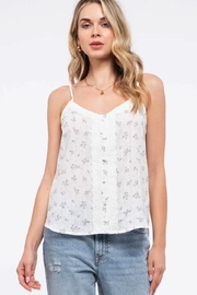 By the River Sleeveless Print Lace Top - Product Mini Image