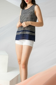 THML  Sleeveless Print Top with Horizontal Solid Panels - Product Mini Image