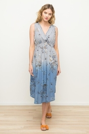 Mystree Sleeveless Printed Dress - Front cropped