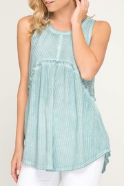 LuLu's Boutique Sleeveless Ribbed Tunic - Front cropped