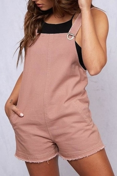 Peach Love California Sleeveless Romper - Product List Image
