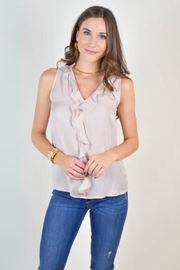 Naked Zebra Sleeveless Ruffle Blouse - Product Mini Image