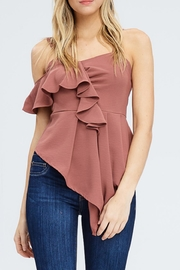 Venti 6 Sleeveless Ruffle Blouse - Product Mini Image