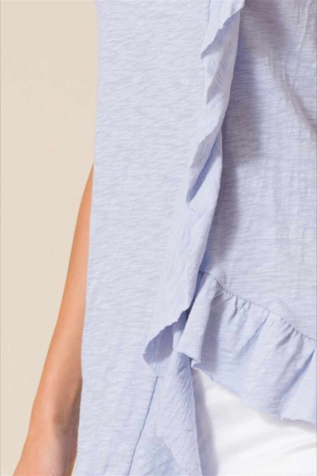 Love in  Sleeveless Ruffle Top - Side Cropped Image