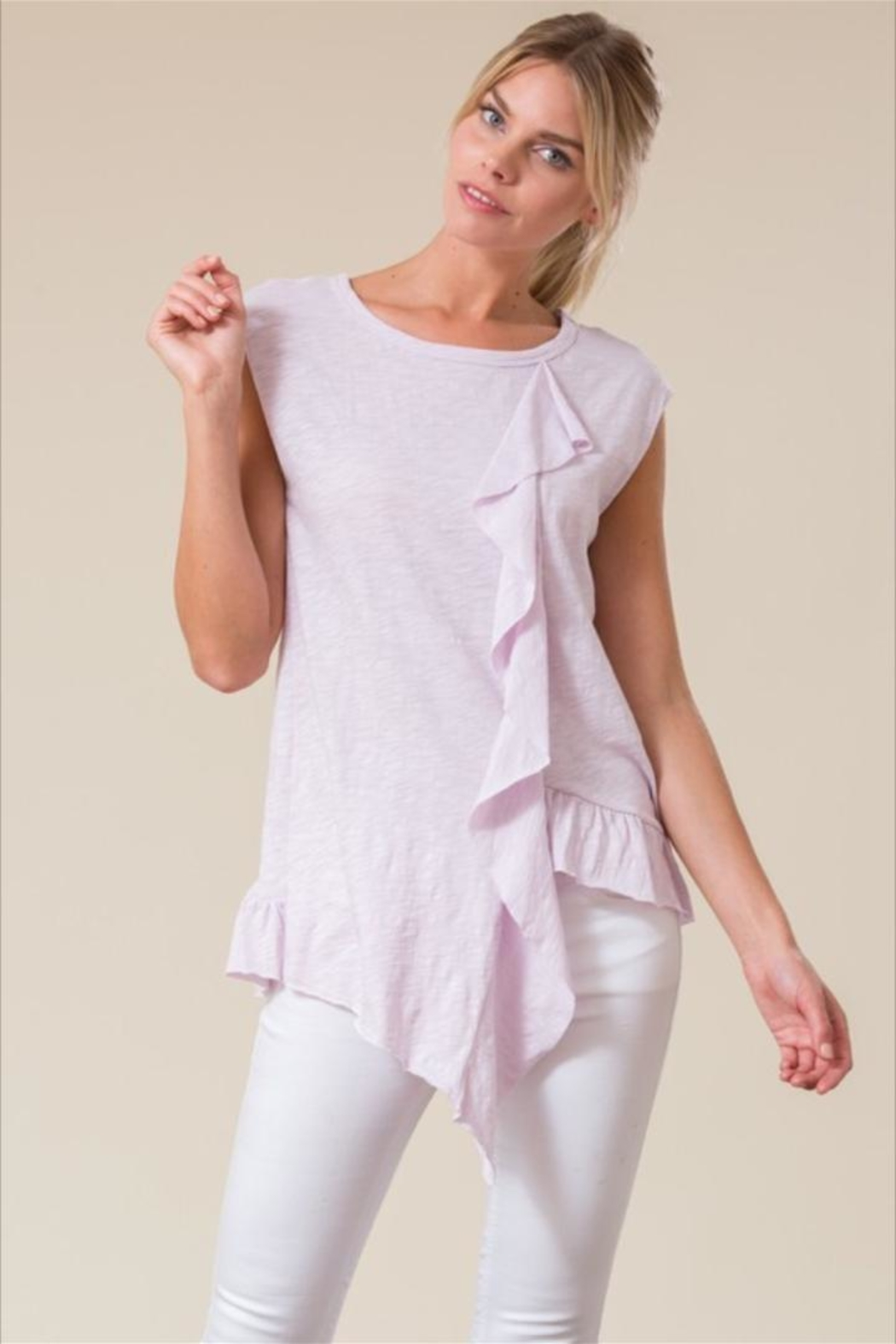 Love in  Sleeveless Ruffle Top - Main Image