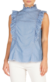 Elan Sleeveless Ruffle Top - Product Mini Image