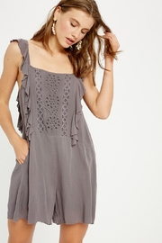 Wishlist Sleeveless Ruffled Romper - Product Mini Image