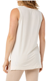 Liverpool  Sleeveless Scoop Neck Knit Tank - Front full body