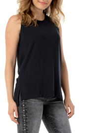 Liverpool  Sleeveless Scoop Neck Knit Tank - Front cropped