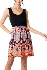 Love Valentine Sleeveless Scoop Neck Print Dress - Product Mini Image