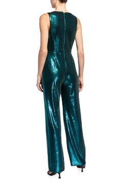 Aidan Mattox Sleeveless Sequin Jumpsuit - Alternate List Image