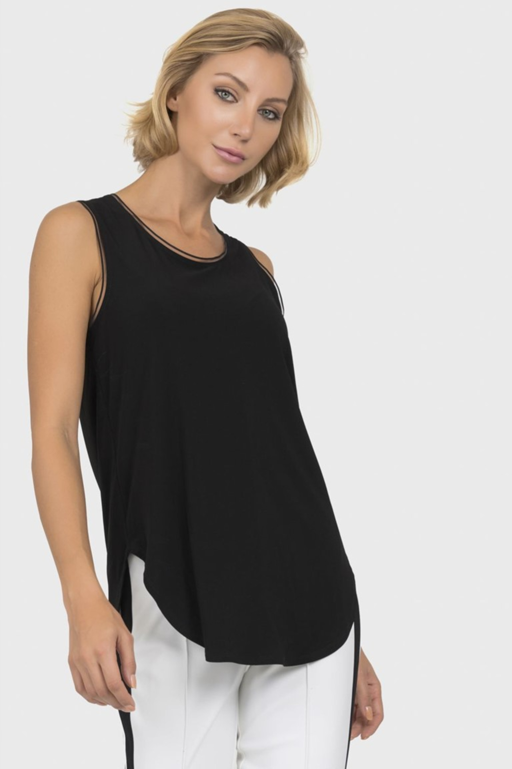 Joseph Ribkoff  Sleeveless Shaped Top - Front Cropped Image