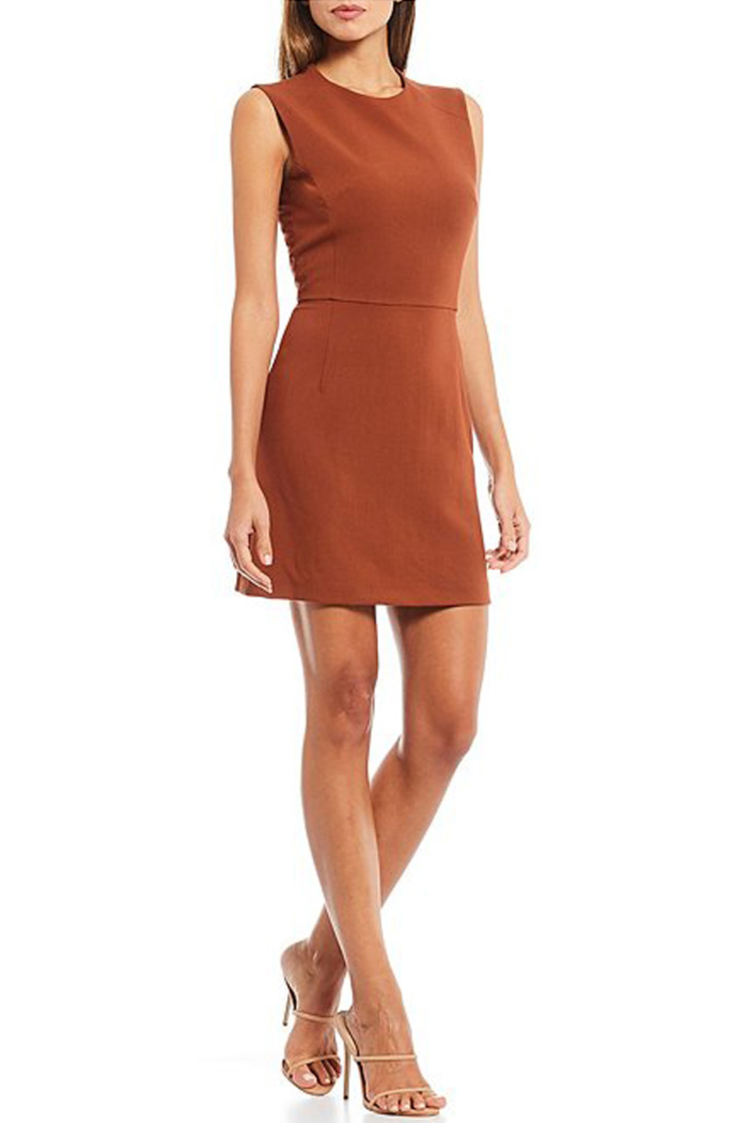French Connection SLEEVELESS SHEATH DRESS - Front Cropped Image