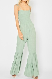 Entro Sleeveless Smocked Jumpsuit - Product Mini Image