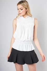 Do & Be Sleeveless Smocked Top - Front cropped