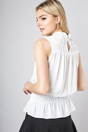 Do & Be Sleeveless Smocked Top - Side cropped