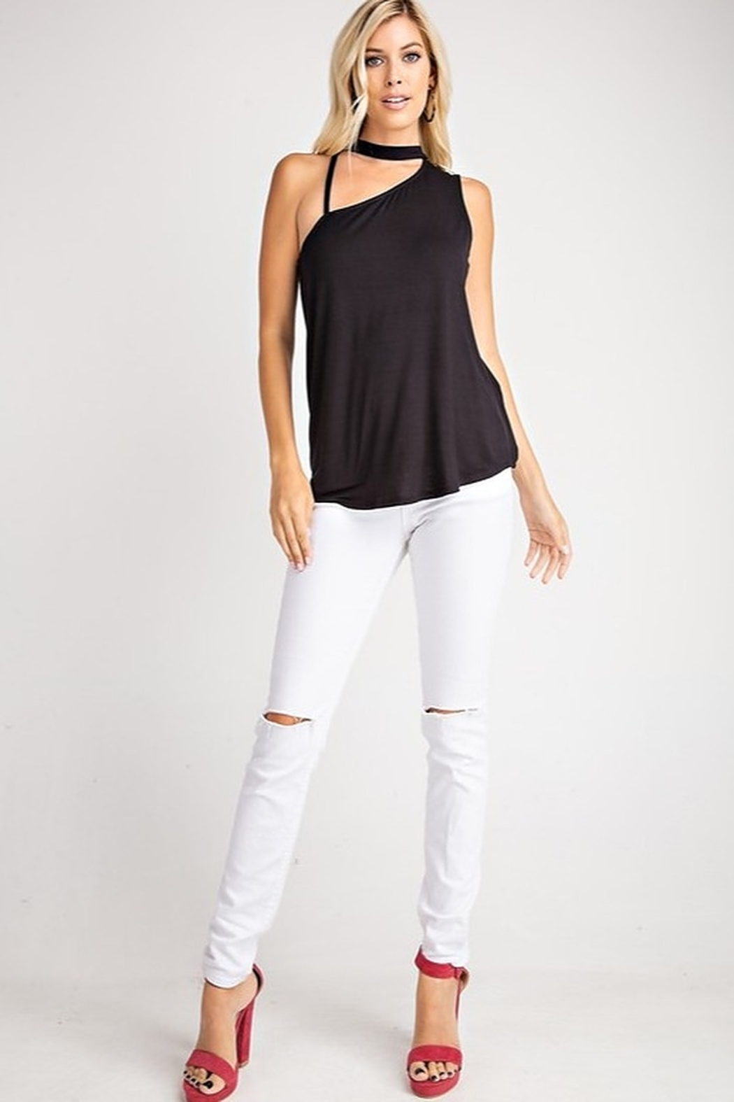 143 Story Sleeveless Strap Detail Top - Front Full Image