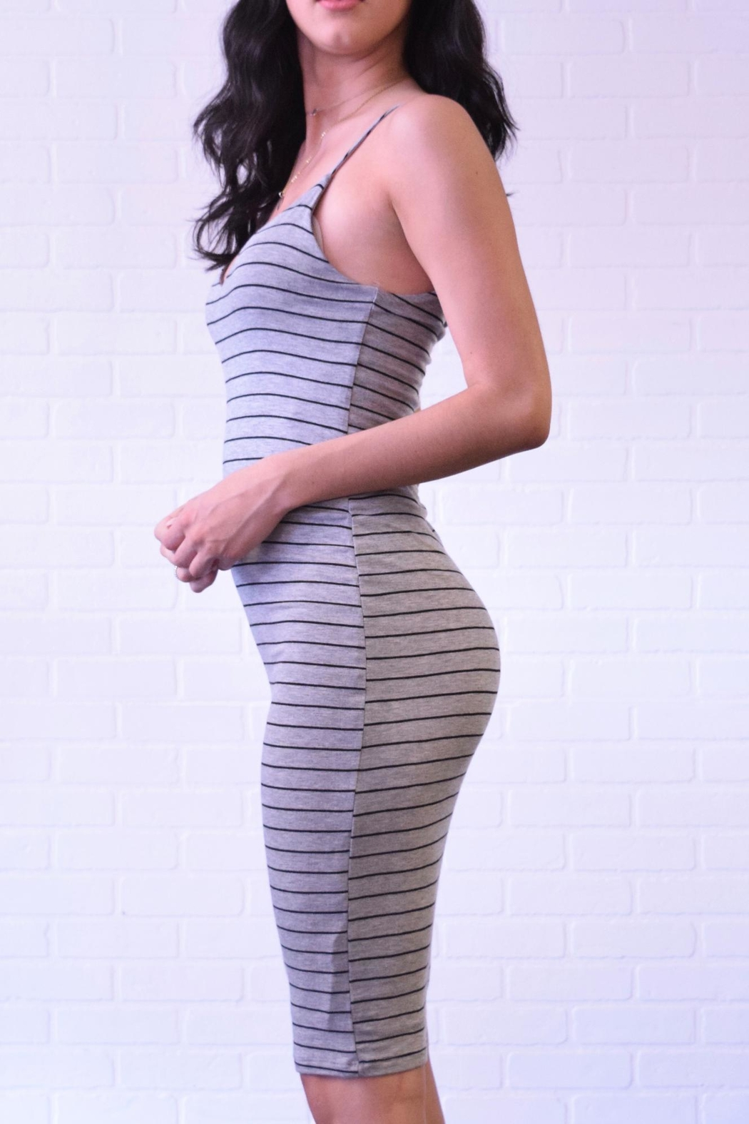 Final Touch Sleeveless Stripe Dress - Front Full Image