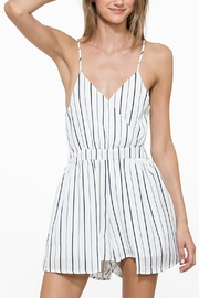 En Creme Sleeveless Stripe Romper - Product Mini Image
