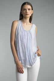 Tempo Paris Sleeveless Stripe Top - Product Mini Image