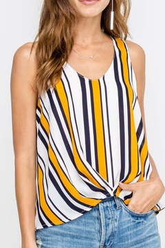 Shoptiques Product: Sleeveless Stripe Top