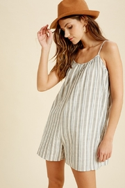 Wishlist Sleeveless Striped Pocketed Romper - Product Mini Image