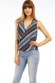 Veronica M Sleeveless Surplice Top - Product Mini Image